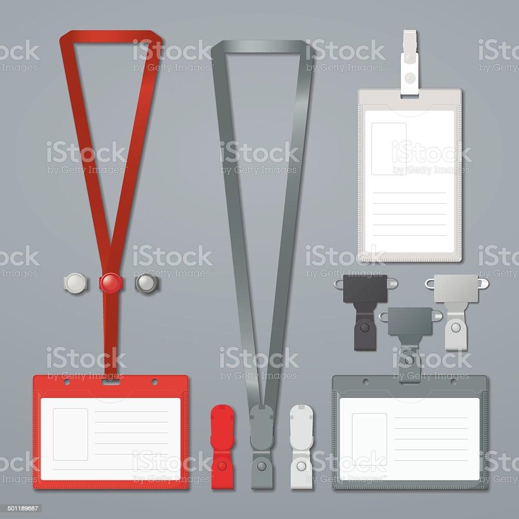 Badge Clip And Lanyard Vector Templates Stock Vector Art & More ...