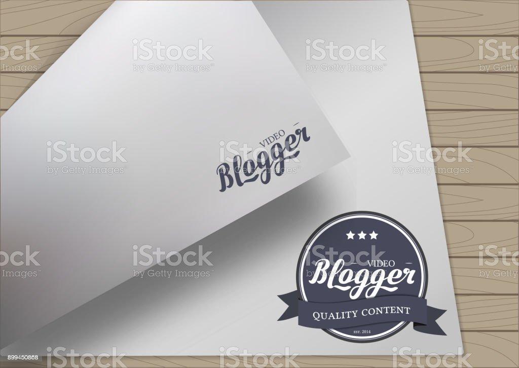 Badge Emblem Design vector art illustration