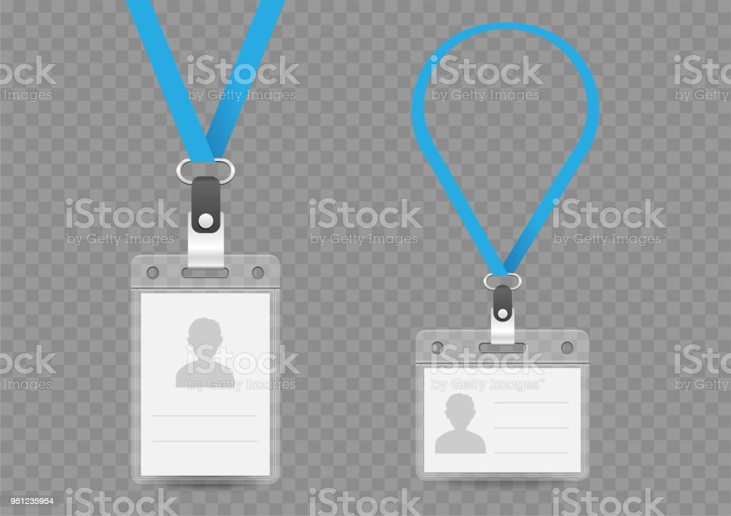 Badge Empty Template And Lanyard Stock Vector Art & More Images of ...