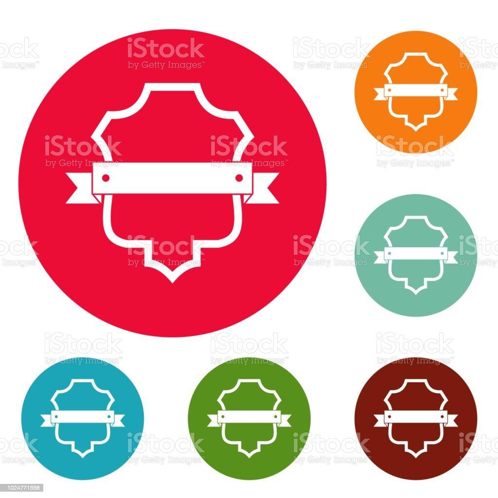Cercle d'icônes tuteur insigne valeur vector - Illustration vectorielle