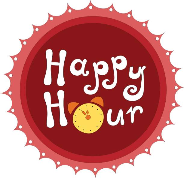 Happy hour de badge - Illustration vectorielle