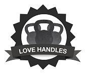 Badge Kettlebells with Tag Love Handles