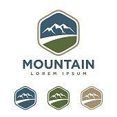 badge Mountain vector Logo Template Illustration Design. Vector EPS 10.