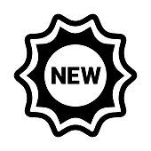 istock Badge, new, sticker icon. Black color 1281579359