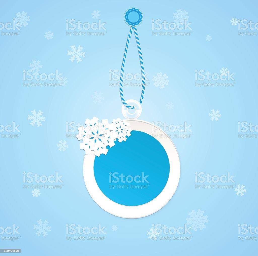 Badge on a winter theme. vector art illustration