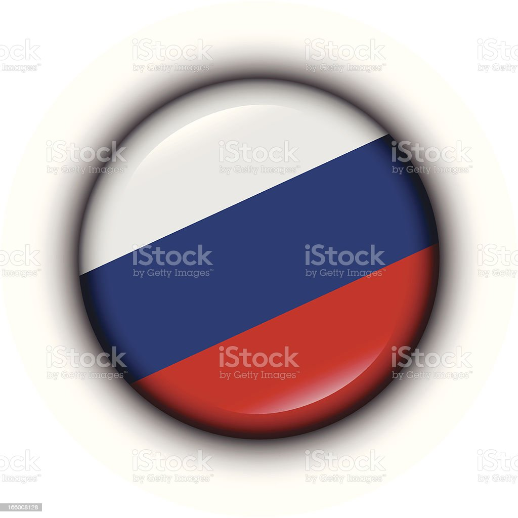 Badge - Russia flag vector art illustration