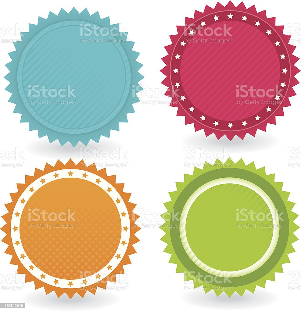 badge Set Icons royalty-free stock vector art