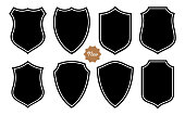 Badge Shape Set Vector Template on the White Background