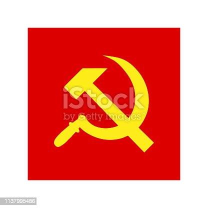 istock Badge sickle and hammer. the USSR 1137995486