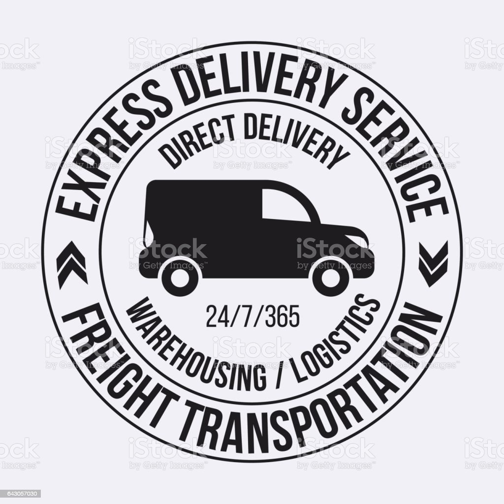 badge template of fast delivery van stock vector art more images