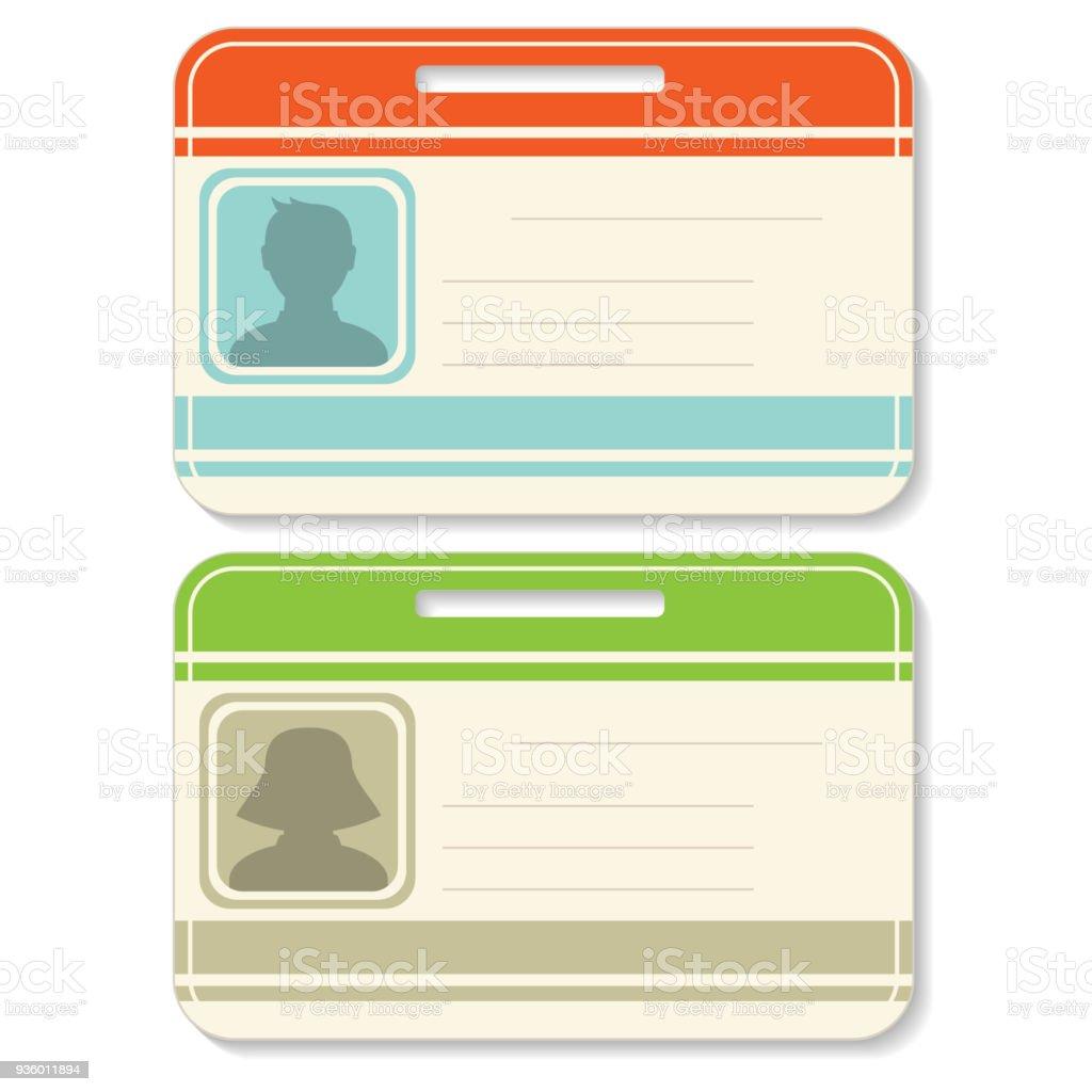 Ilustración de Conjunto De Plantillas De Tarjeta De Identificación y ...