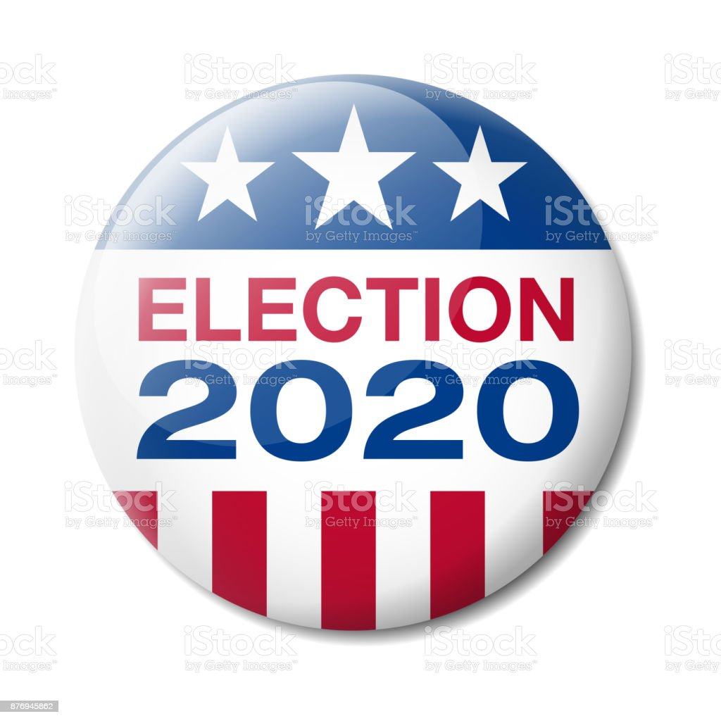 Badge USA Election 2020 Vector illustration of Badge about the USA Presidential Election in 2020 2020 stock vector