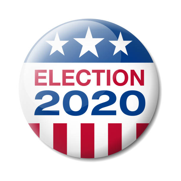 Badge USA Election 2020 Vector illustration of Badge about the USA Presidential Election in 2020 election stock illustrations