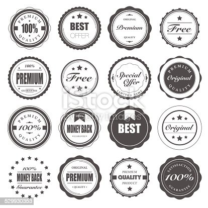 Vector File of Badges Set