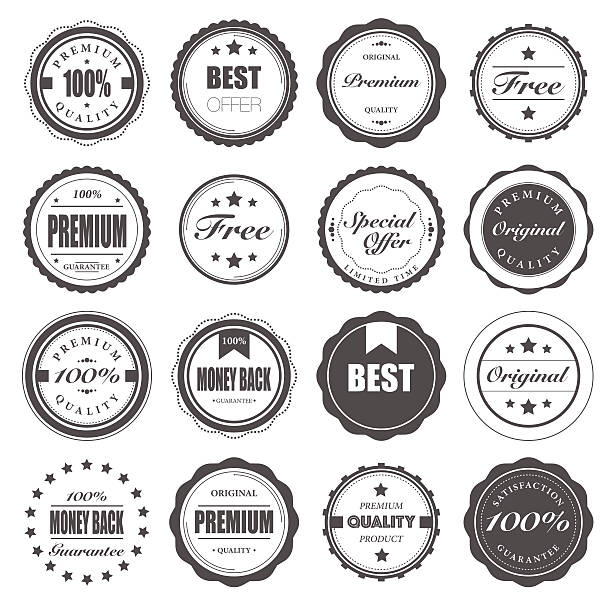 Badge vector art illustration