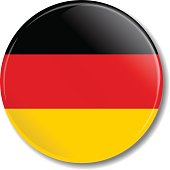 Badge with Germany flag. Vector illustration.