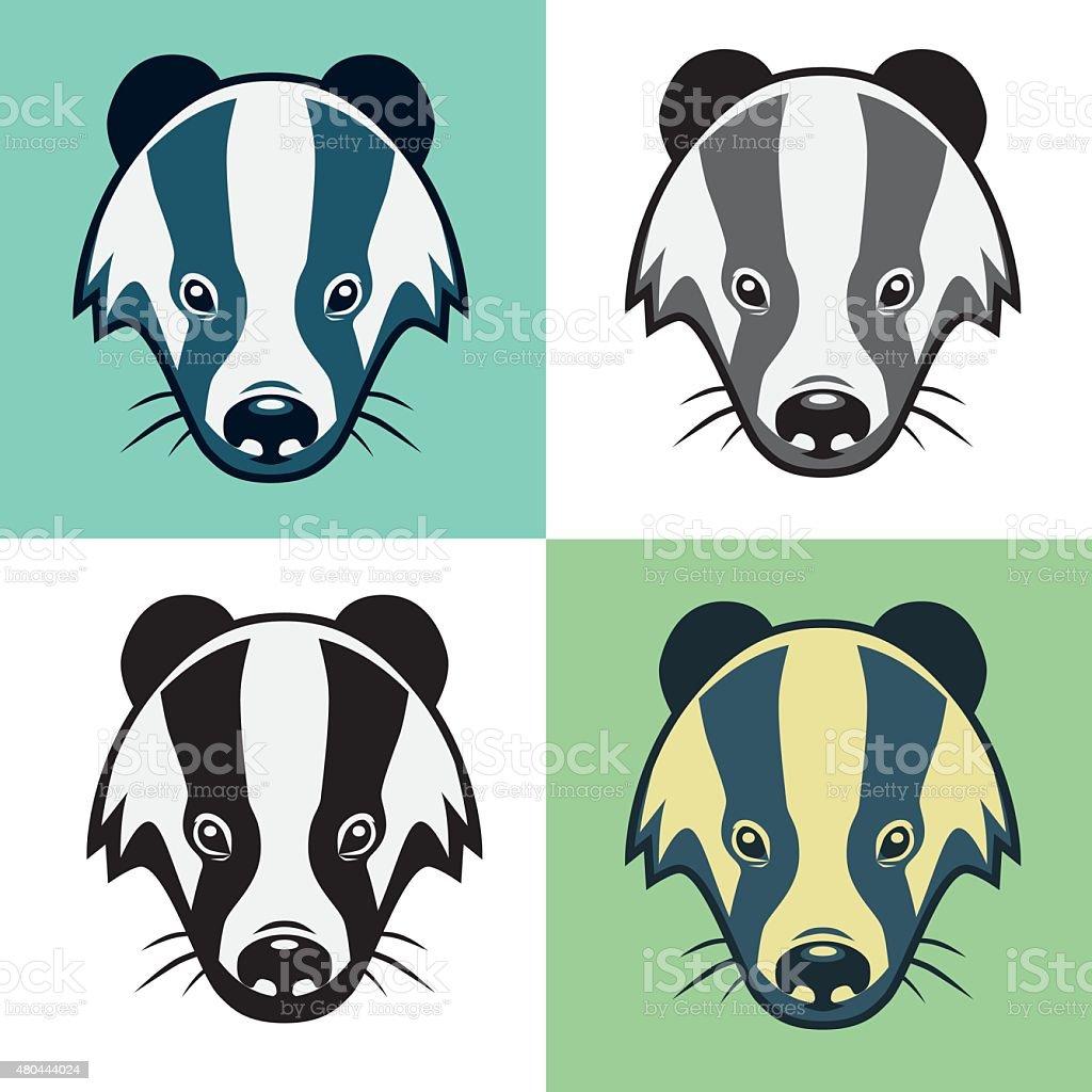Badger Mascot Head Illustration Emblem vector art illustration