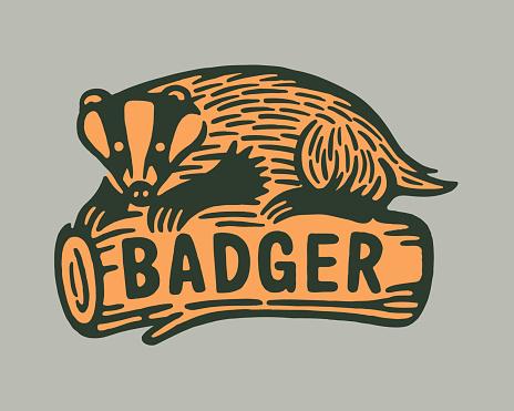 Badger on a Log