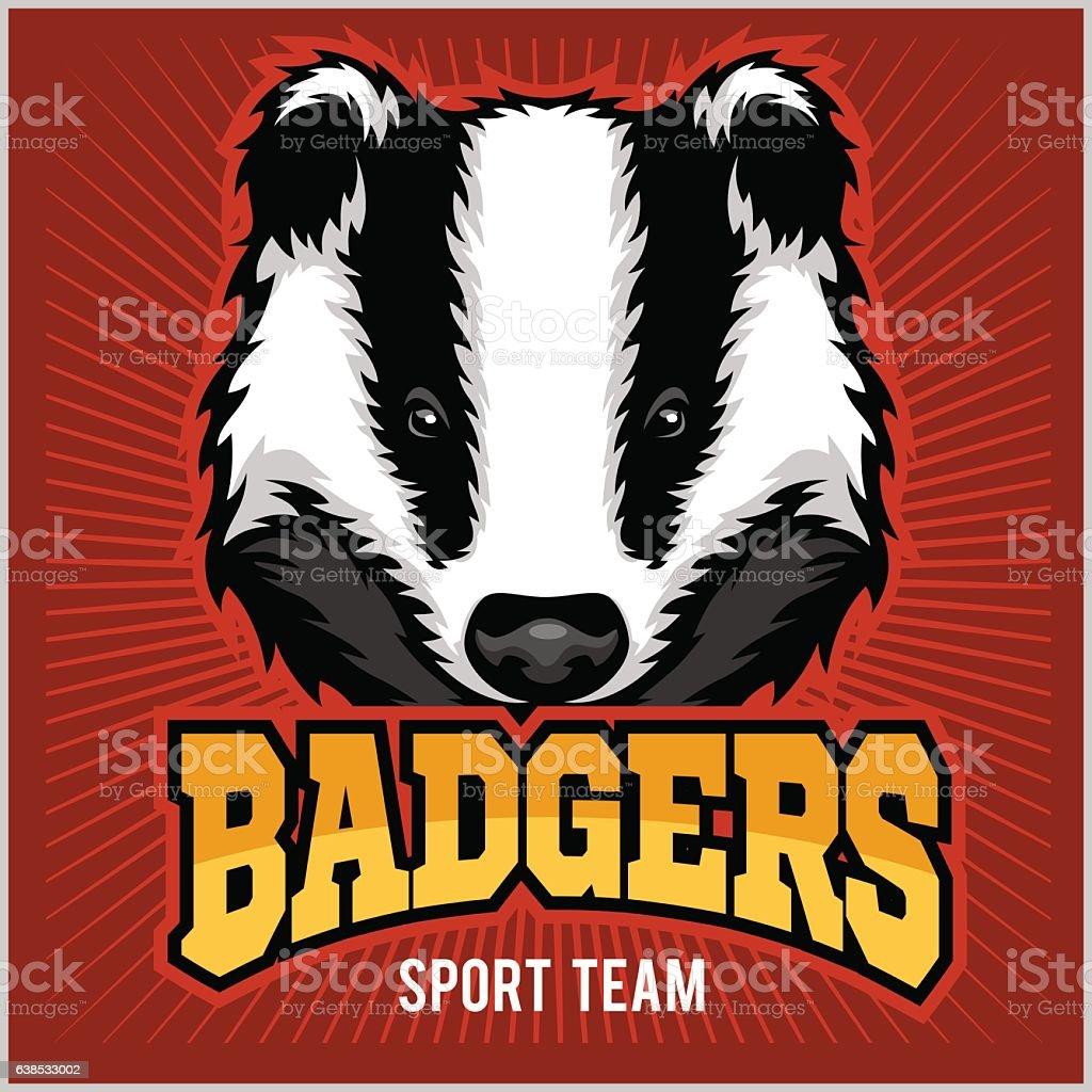 Badger Sport team Logo vector art illustration