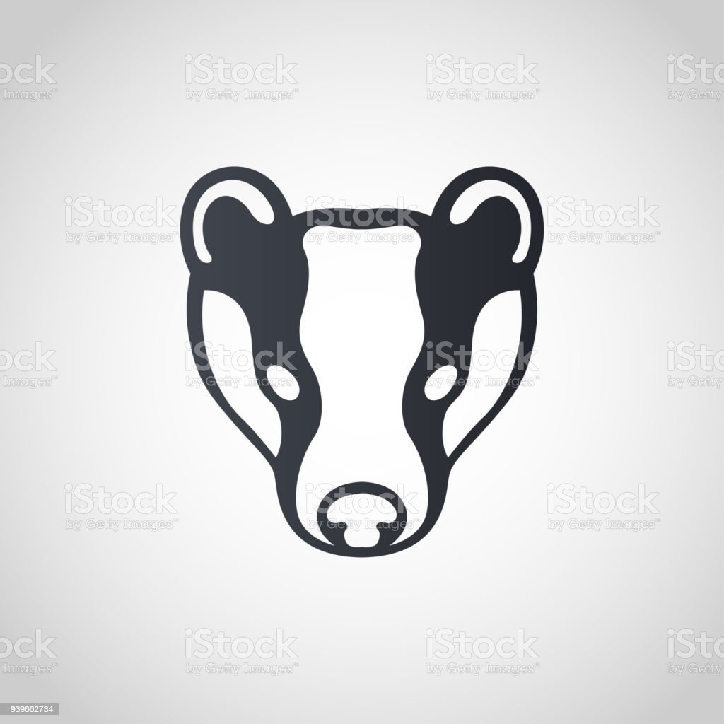 Badger symbol icon design, vector illustration vector art illustration