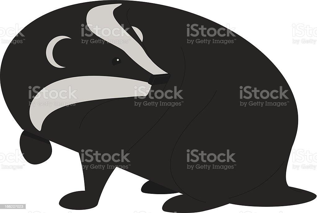 Badger Two vector art illustration