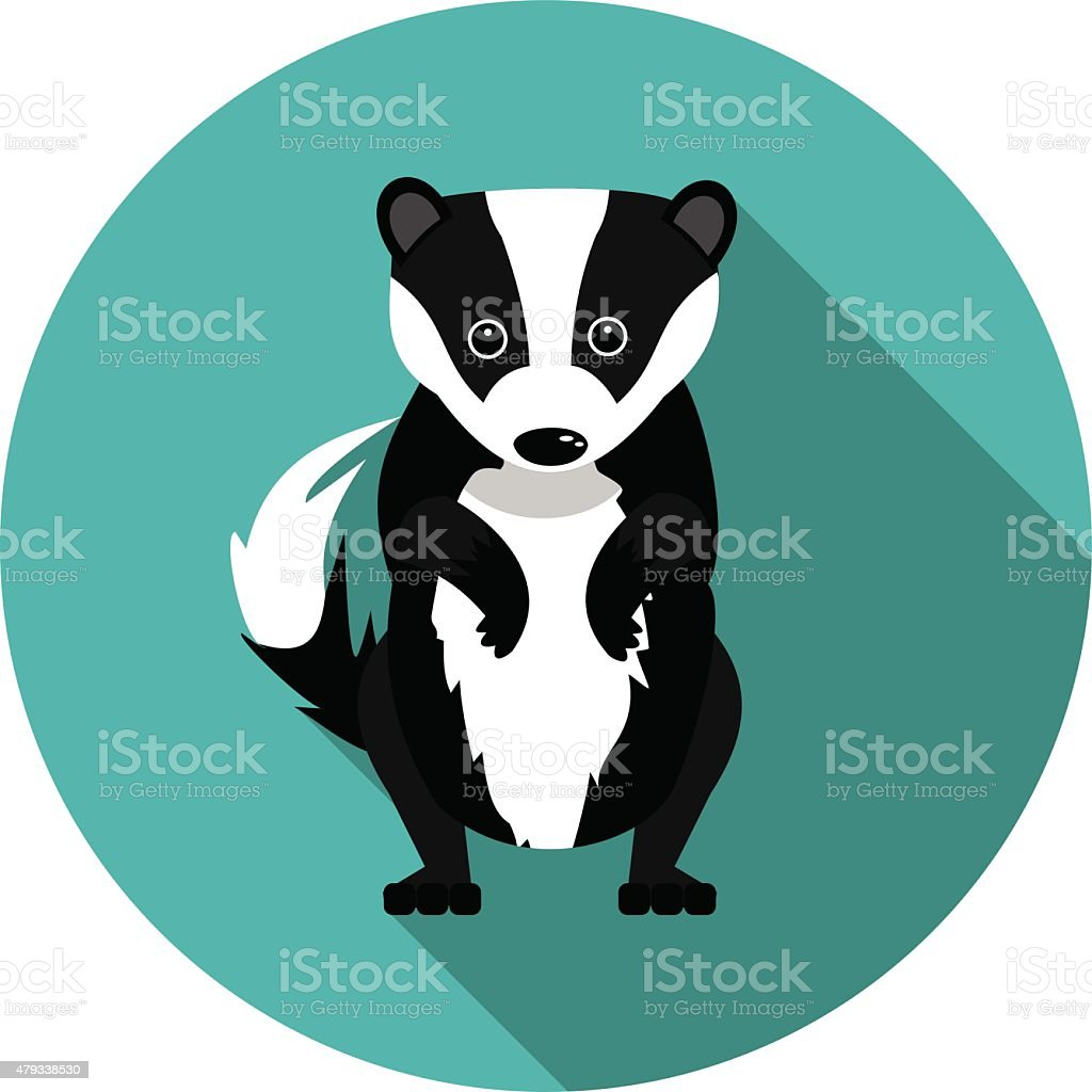royalty free badger clip art vector images illustrations istock rh istockphoto com badge clipart badger clipart black and white