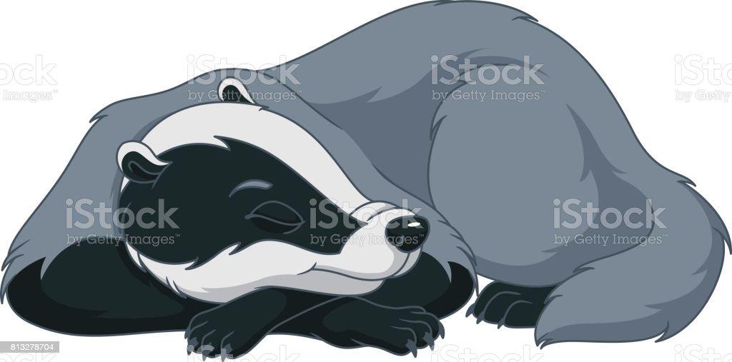 Badger vector art illustration