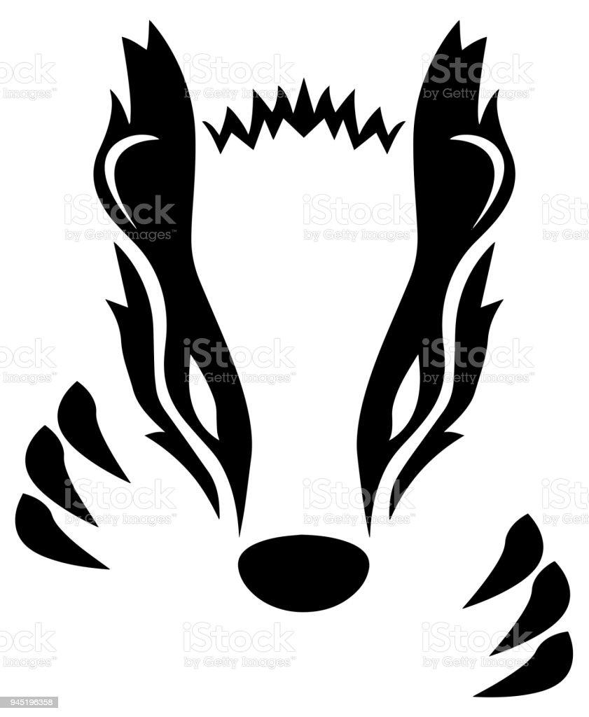 Badger Vector Illustration vector art illustration