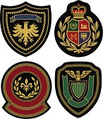 royal classic emblem badge shield