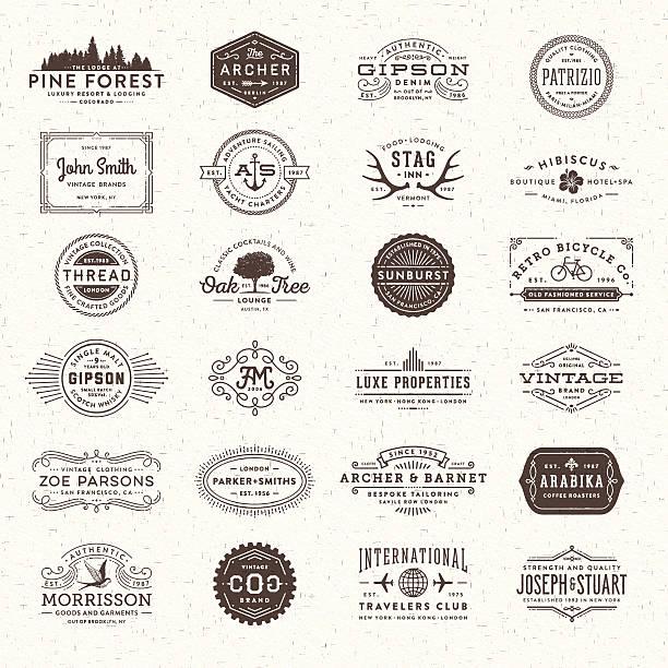 odznaki, etykiety i ramki - insygnia stock illustrations