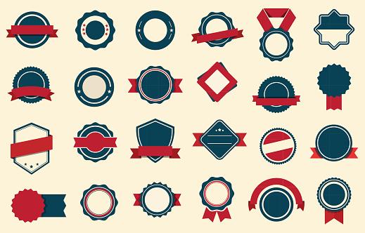 Badges Labels Ribbons Vector