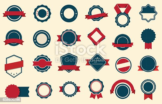 This image is a vector file representing Badges Labels Ribbons Vector design set.