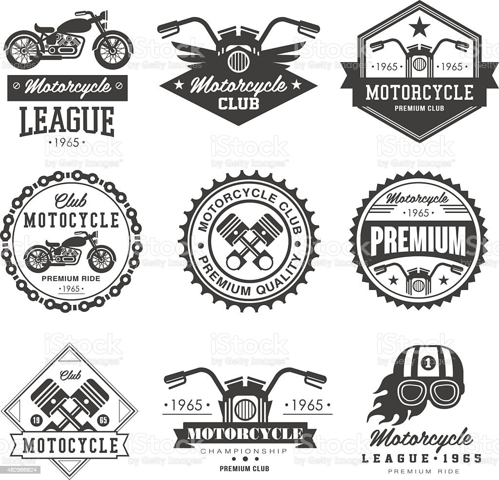 Badges Motorcycle Collections vector art illustration