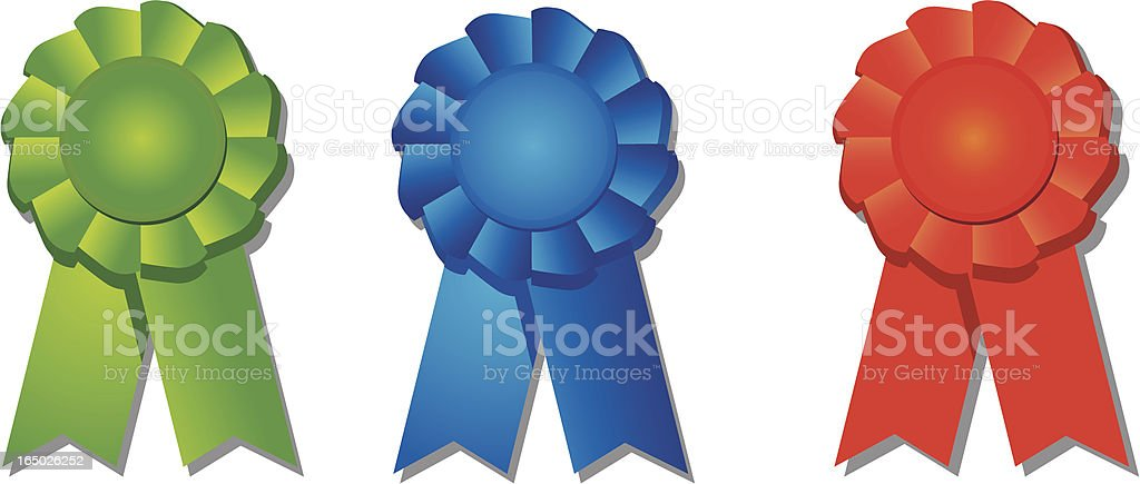 Badges Red Green Blue royalty-free badges red green blue stock vector art & more images of award