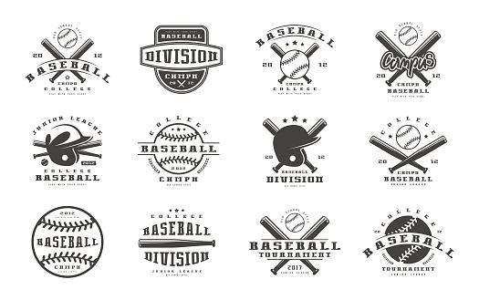 Badges set of baseball team