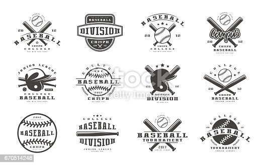 istock Badges set of baseball team 670514248