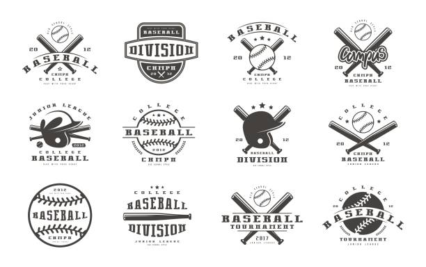 Badges ensemble de l'équipe de baseball - Illustration vectorielle