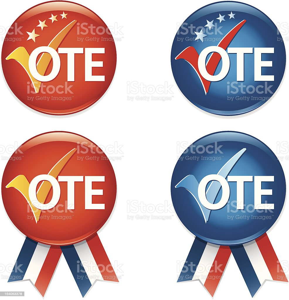 VOTE Badges royalty-free vote badges stock vector art & more images of american culture