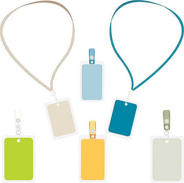 ID Badges Gradients were used to create this selection of blank backstage passes and identification badges, with various clips.  Plenty of space to add your own image, text, logo, etc. Colors easily changed.  Extra large JPG, thumbnail JPG, and Illustrator 8 compatible EPS are included in zip. security pass stock illustrations