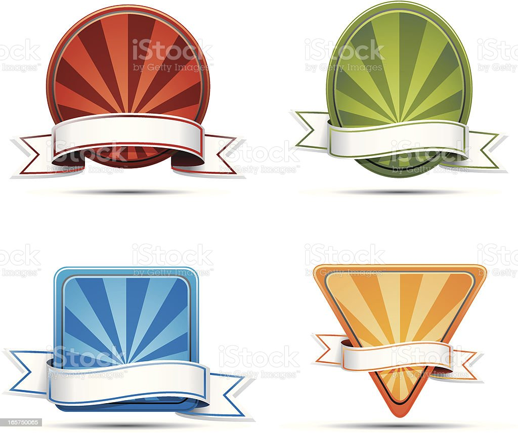 Badges royalty-free badges stock vector art & more images of award