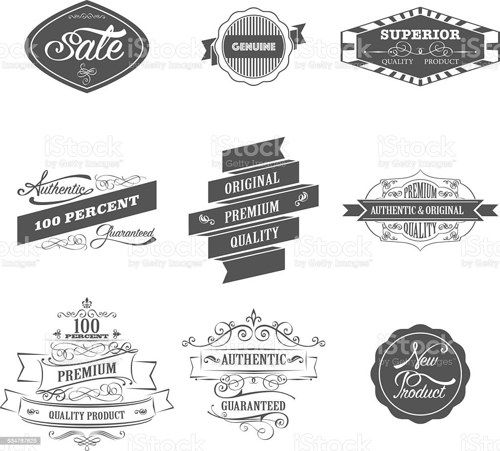 Badges vector art illustration