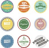 The vector files of badges set.