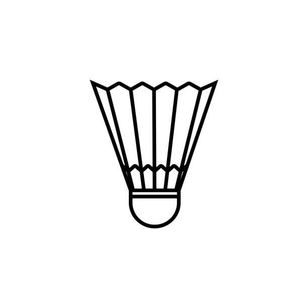 Badminton ball icon vector. Line badminton symbol. Trendy flat outline ui sign design. Thin linear graphic pictogram for web site, mobile application. Logo illustration. Eps10. Badminton ball icon vector. Line badminton symbol. Trendy flat outline ui sign design. Thin linear graphic pictogram for web site, mobile application. Logo illustration. Eps10. shuttlecock stock illustrations