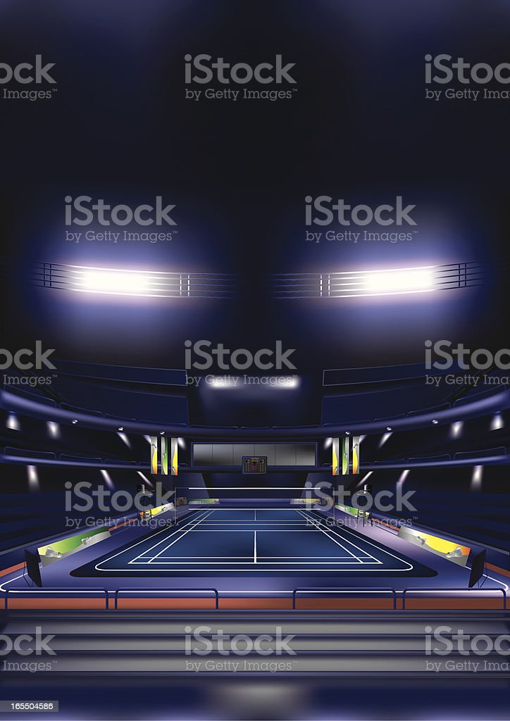 Badminton Court vector art illustration