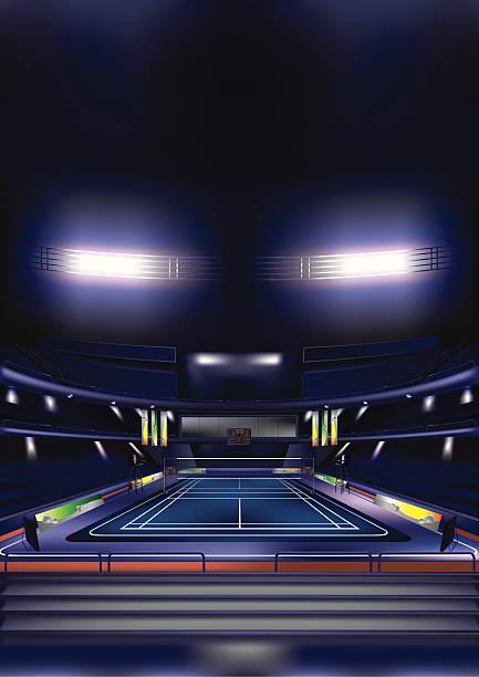 Tribunal de Badminton - ilustração de arte vetorial