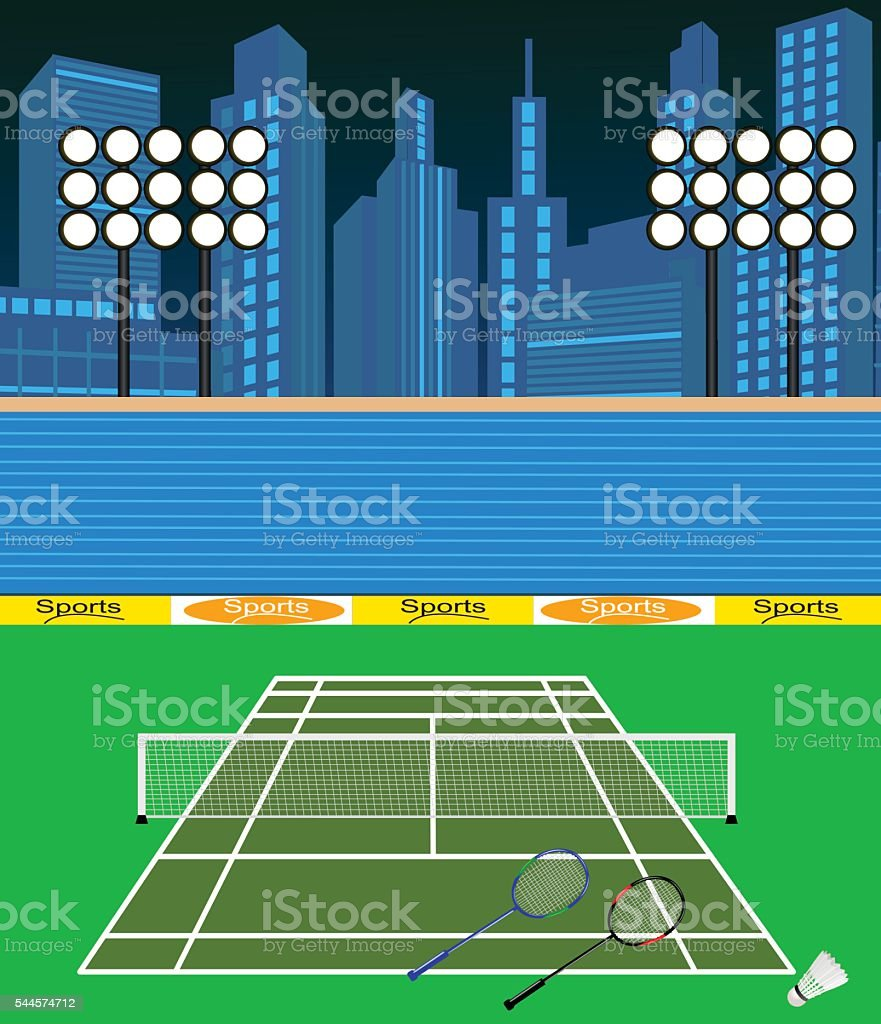 Badminton  Court Badminton Court is separate layered and easy to edit Badminton - Sport stock vector
