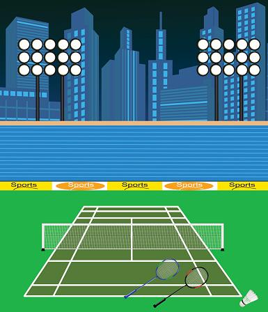 Badminton Court Stock Illustration - Download Image Now