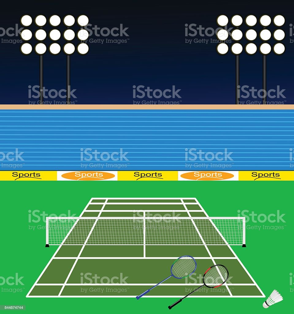 Badminton Court Badminton Court is separate layered and easy to edit Activity stock vector