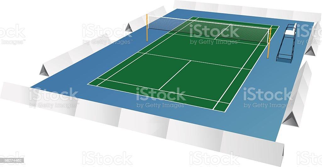 Campo da badminton campo da badminton - immagini vettoriali stock e altre immagini di arbitro royalty-free