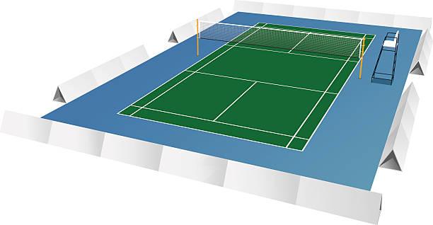 badminton-platz - badminton stock-grafiken, -clipart, -cartoons und -symbole